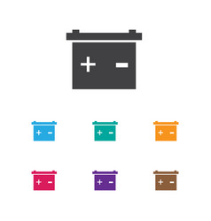 of car symbol on battery icon vector image