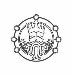 Old viking logo design template vector