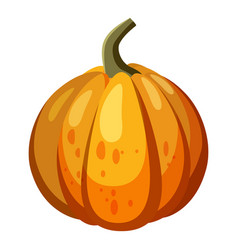 Orange pumpkin icon cartoon style vector
