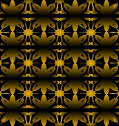 Pattern floral seamless on black background vector