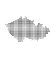 pixel map of czech republic dotted map of czech vector image
