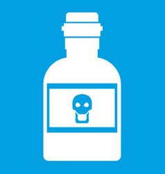 Poison bottle icon white vector