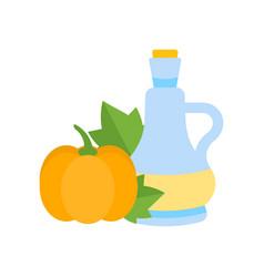 pumpkin oil vector image