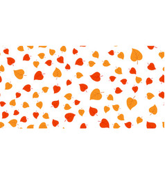 Red and yellow leaves vector