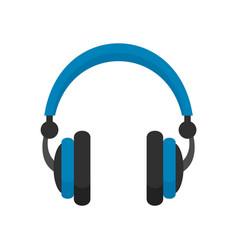 retro headphones icon flat style vector image