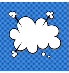 retro pop art comic thought cloud speech bubble vector image