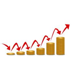 Rising money steps vector