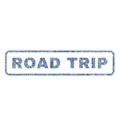 Road trip textile stamp vector