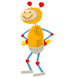 robot or droid cartoon comic character vector image