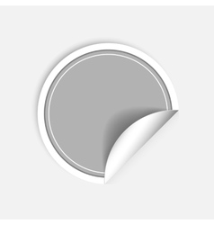 round stickers with curled edge isolated on vector image