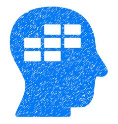 Schedule thinking grunge icon vector