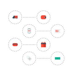 set of magazine icons flat style symbols with vector image