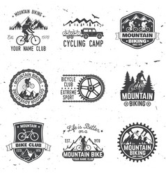 Set of mountain bikings clubs vector