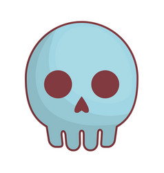 skull icon image vector image