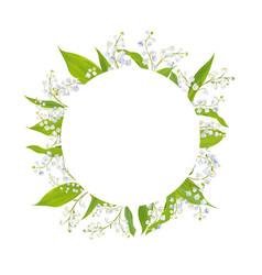 Spring and summer floral frame holidays decoration vector