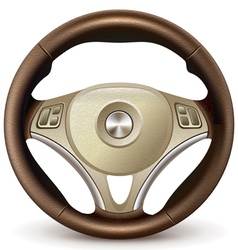 Steering wheel detailed realistic vector