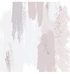 tender soft colors decoration hand-drawn brush vector image