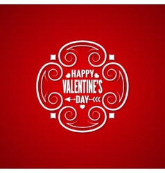 valentines day vintage design background vector image