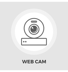 Web cam flat icon vector image
