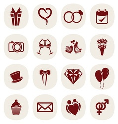 wedding icons2 resize vector image