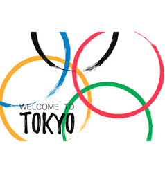 welcome to tokyo banner template vector image