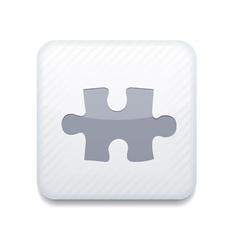 White puzzle icon Eps10 Easy to edit vector