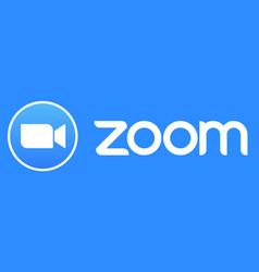 Zoom app logo icon vector