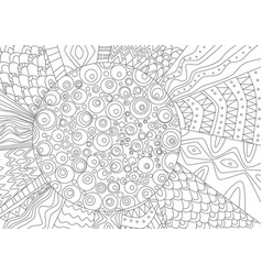abstract drawing of sun for coloring book vector image