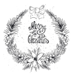 Christmas greeting card with citrusspiceBlack vector image