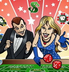 Dice table at Casino vector image