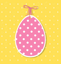 easter paper decoration in the form of egg easter vector image