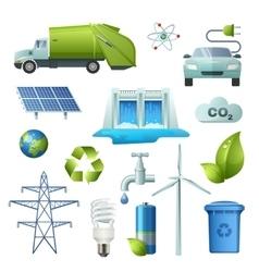 Ecology Symbols Icon Set vector image