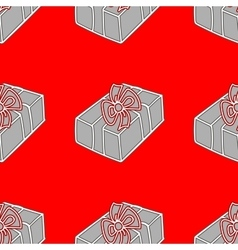 Gift Seamless holiday pattern vector image vector image