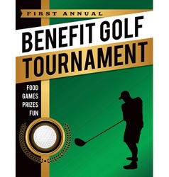 Golf Tournament Silhouette Flyer vector image vector image