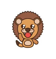 lion baby animal kawaii design vector image vector image