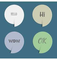 Four paper speech bubbles vector image