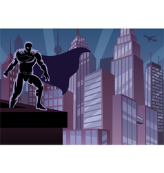 Superhero on Roof vector image vector image