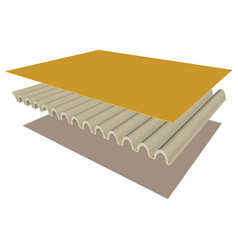 three dimensional of the parts a corrugated vector image vector image
