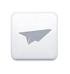 white origami plane icon Eps10 Easy to edit vector image
