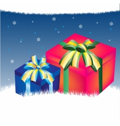Background with gift vector image vector image