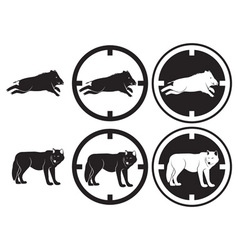 boar and wolf vector image vector image