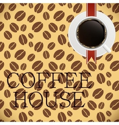 Coffee house menu template vector image vector image