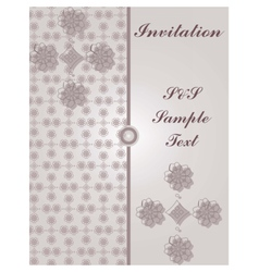 Invitation card with vintage floral ornaments vector image