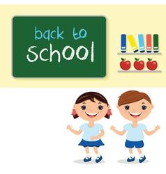 kids in school classwith school board With text vector image vector image