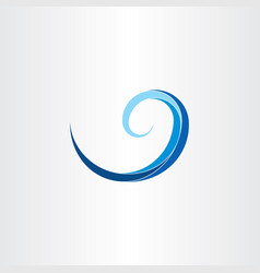 spiral water wave clip art vector image