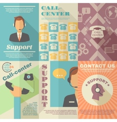 Support Call Center Poster vector image vector image
