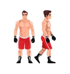 boxer man sportsman games flat vector image