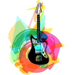 colorful electric guitar vector image vector image