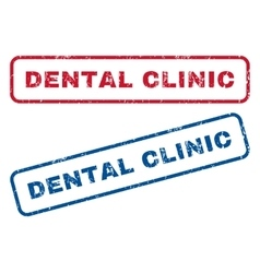 Dental Clinic Rubber Stamps vector image vector image
