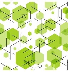 Green hexahedron seamless pattern background vector image vector image